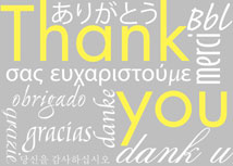 Thank you in Any Language - Gray Greeting Card