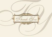 Traditional Thank You Card
